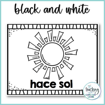 Pósters del tiempo / Weather Posters