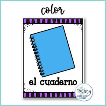Pósters de los útiles de la clase / School Supplies Posters