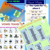 Posters; vowel team, sneaky silent letters, R is in charge