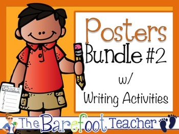Posters w/ Writing Activities Bundle #2 (12 Sets Included)