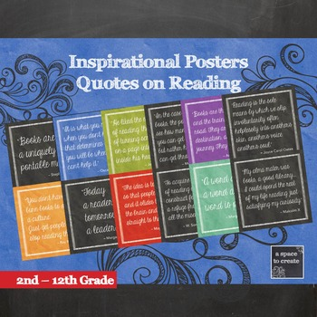 Posters with Quotes to inspire Reading