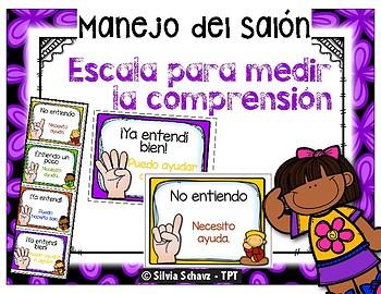 Posters y tarjetas de comprensión en español
