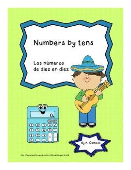 PostersSpanishNumbers by Tens 10-100/ Los numeros de diez en diez: