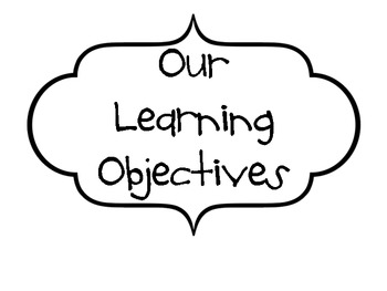 Posting Objectives In Your Classroom