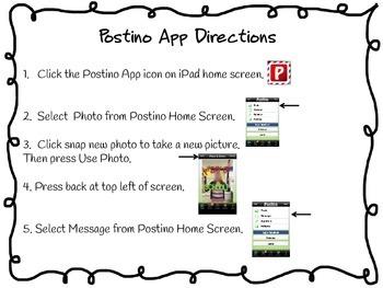 Postino iPad App Directions - Pen Pal Writing Activity