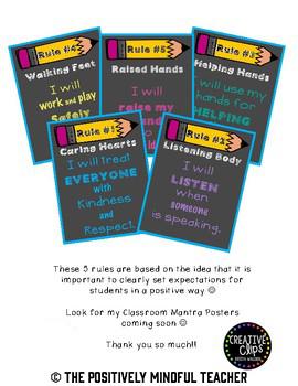 Postive Classroom Rules
