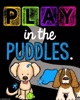 Postive Puppy Posters with BLACK & BRIGHTS