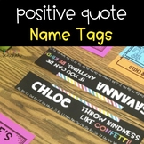 Postive Quote Name Tags