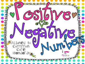 Postive and Negative Integers **QR CODE Task Cards**