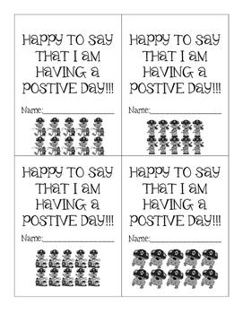 Postivie Behavior Punch Cards - Firemen Monkeys - Cute