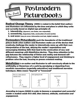 Postmodern Picturebook Notes and Lesson