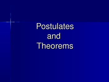 Postulates and Theorems PowerPoint