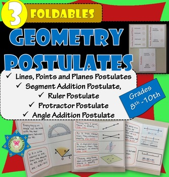 Postulates for points, lines, planes, segments, angles Foldables