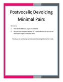 Postvocalic Devoicing Minimal Pair Cards