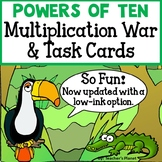 Powers of Ten Multiplication War and Task Cards! 5.NBT.2