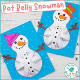 Pot Belly Snowman - Cut and Stick Winter Craft