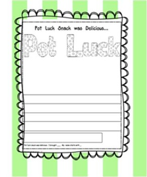 Pot Luck Snack - Writing & Illustrating
