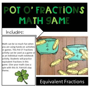 Pot O' Fractions Game and Notebook Activity