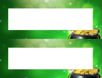 Pot of Gold Desk Name Tag Plates Set