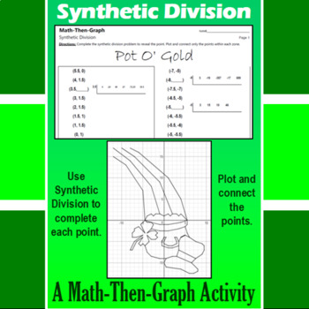 Pot O' Gold - A Math-Then-Graph Activity - Synthetic Division