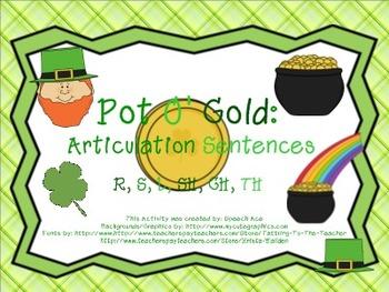 Pot O' Gold: Articulation Sentences Pack (R,S,L,SH,CH,TH)