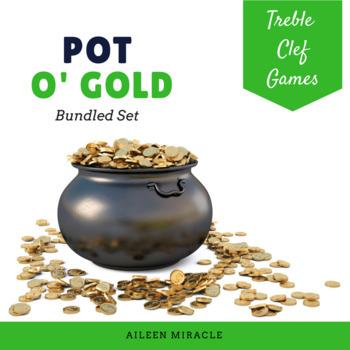 Pot O' Gold {Bundled Set of Games for Treble Clef Practice}