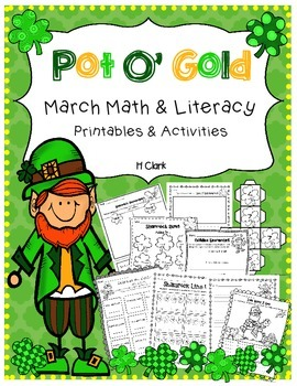 St Patricks Day Pot O Gold Math Literacy Printables And Activities