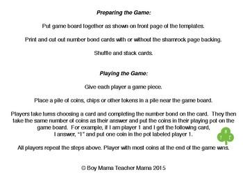 Pot O' Gold Number Bond Game