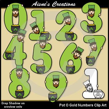 Pot O Gold Numbers Clip Art