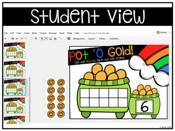 Pot 'O Gold Ten Frame Build {Google Classroom}