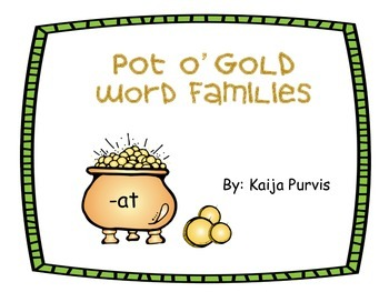 Pot 'O Gold Word Families