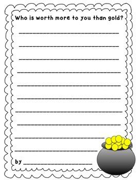 Pot O' Gold Writing Activity
