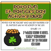 St. Patrick's Day Games and Activities - Small & Whole Group - Minimal Prep!!