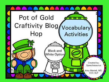 Pot Of Gold Craftivity: St. Patrick's Day Vocabulary
