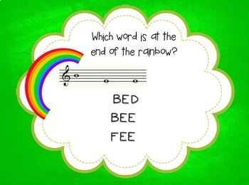 Pot o' Gold {A game for practicing line notes on the treble clef staff}