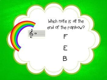 Pot o' Gold {A game for practicing notes on the treble clef staff}