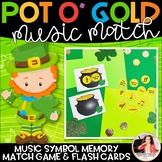 St. Patrick's Day Music Symbol Matching Game: Pot o' Gold Music Match