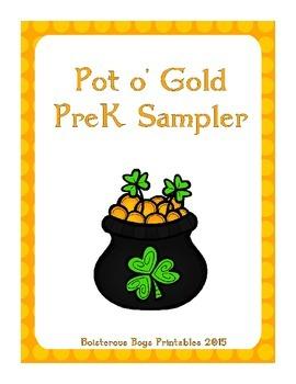 Pot o' Gold PreK Printable Sampler Pack