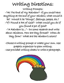 Pot o' Gold Writing {St. Patrick's Day Writing Craftivity}