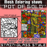 Math Colouring Worksheet (Addition) -Pot
