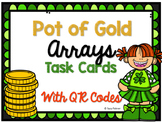 Pot of Gold Arrays Task Cards with QR Codes (multiplicatio