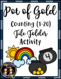 Pot of Gold Counting (1-20) File Folder March Math Center Activity
