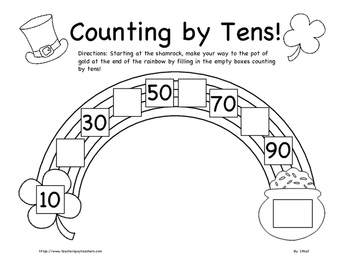 Connect the Dots: Practice Skip Counting by Tens! | Worksheet ...