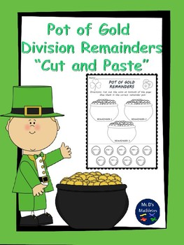 "Pot of Gold Division Remainders ""Cut and Paste"""