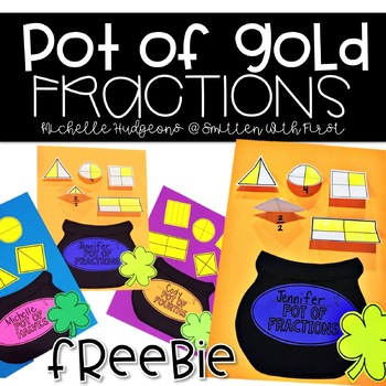 Pot of Gold Fractions Free Craftivity, March, St.Patrick's Day, 1st grade, 2nd