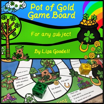 Pot of Gold Game Board for CVC or Any Subject