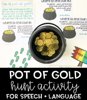 Pot of Gold Hunt Activity for Speech and Language