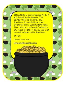 St Pats Day-Pot of Gold Listening Activity