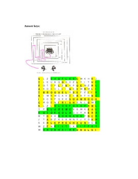 Pot of Gold Maze and Word Find