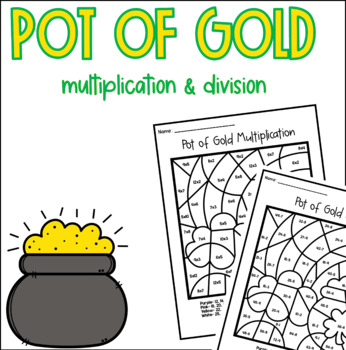 Pot of Gold Multiplication Division Color by Number
